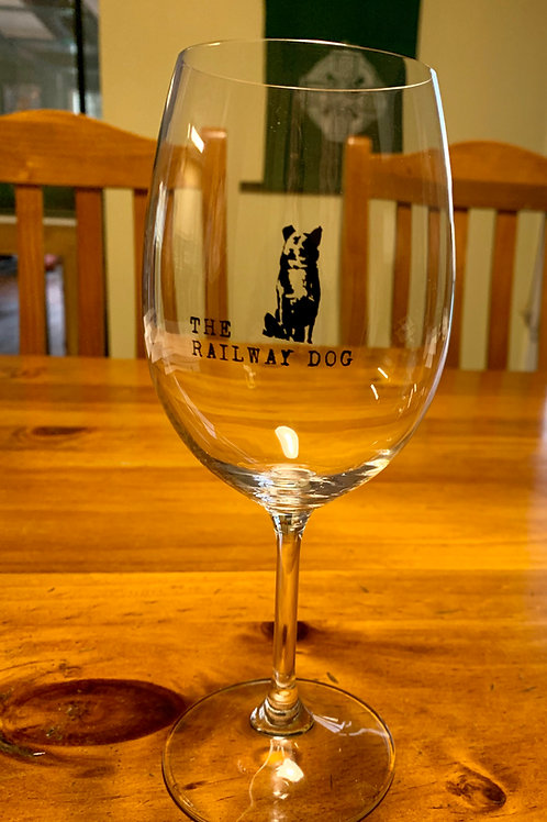 The Railway Dog Wine Glass