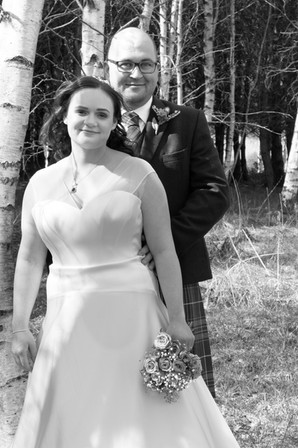 Wedding Portrait, Finzean Hall Wedding, Bride and Groom