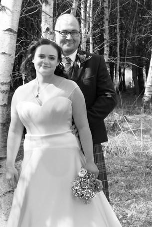 Wedding Portrait, Finzean Hall Wedding, Bride and Groom