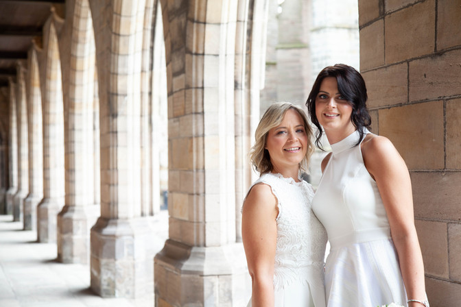 Brides Portrait, Kings College Wedding Photograph, Aberdeen