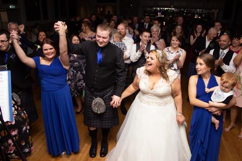 Grand March, wedding dance photography, Aberdeenshire Wedding Photography
