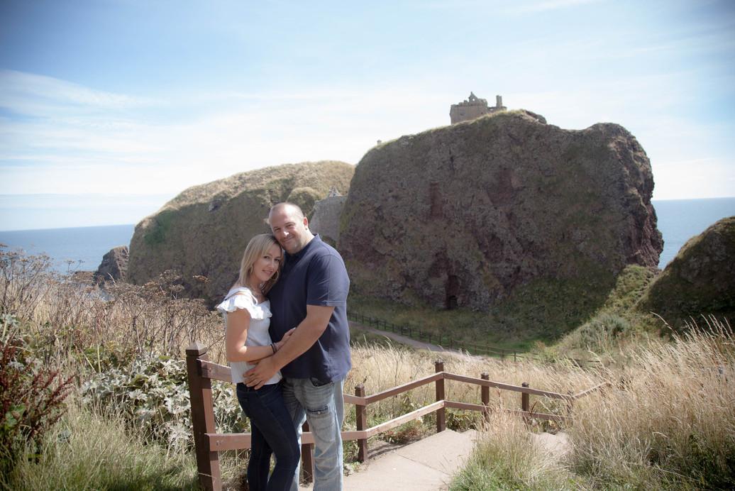 Castle Photoshoot, Pre-wedding shoot at Dunnottar Castle