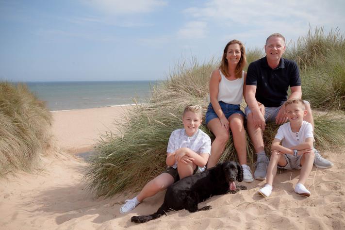 Family Beach Session at Balmedie Beach