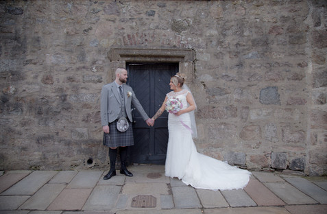 Husband and Wife, Newly Wed, Old Aberdeen Wedding