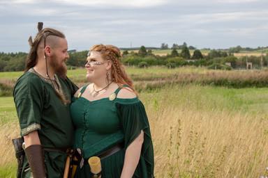 viking wedding, outdoor wedding, scottish wedding, aberdeen wedding photography
