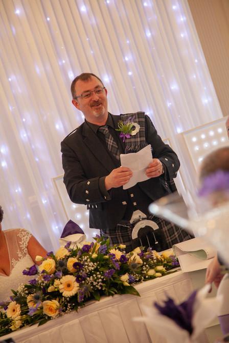 Speeches, groom speech, wedding reception, wedding meal
