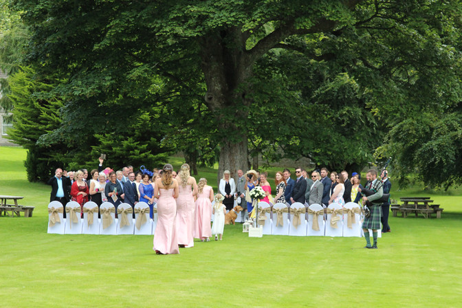 Summer wedding photography, outdoor scottish wedding