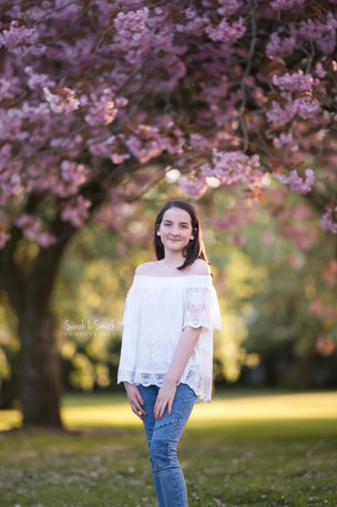 Blosson Tree Session, pre-teen shoot