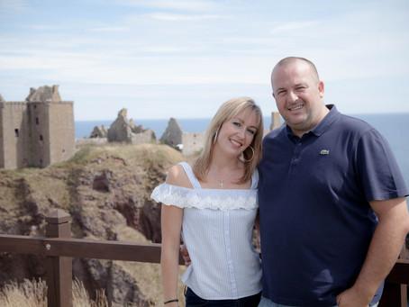 Engagement Shoot at Dunnottar Castle