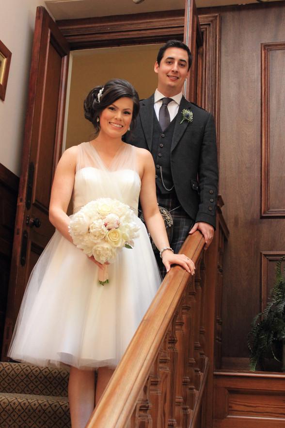 Bride & Groom, portrait, Banchory Hotel, Aberdeenshire