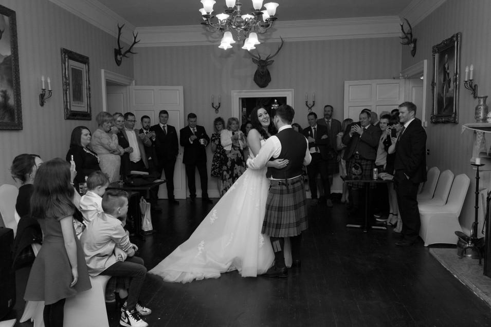 First Dance Photography, wedding reception, Portsoy, Durn House Wedding