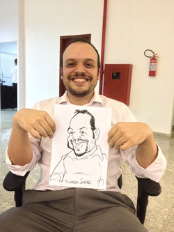 Caricatura ao vivo em papel A4