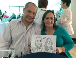 Caricatura em Festa Casal copy