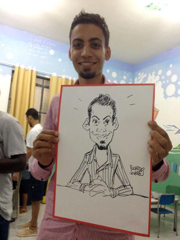 Caricatura em papel