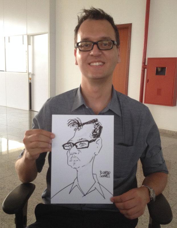 Caricatura ao vivo em evento2
