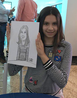 Caricatura de Menina em Festa