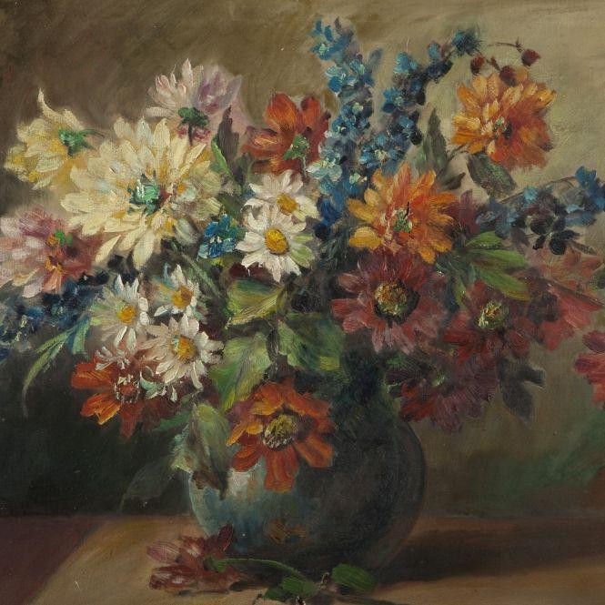 Charles Wittmann - Bouquet de Dahlia