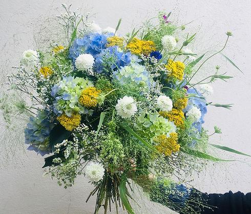 Bouquets_jaune_et_bleu_-_dille_hortensia