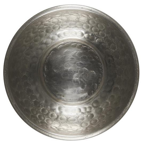 Hammered Dish Antique Silver