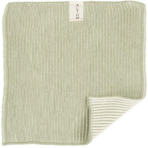 Knitted Cotton Dish Cloth Green