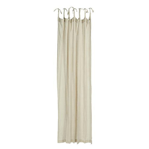Cotton Tie Top Curtain Panel Taupe