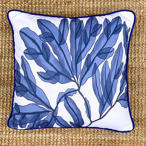 Indigo Seaweed Cushion I