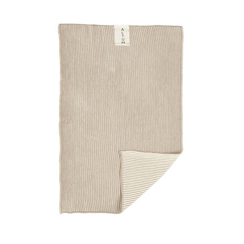 Knitted Cotton Hand Towel Taupe