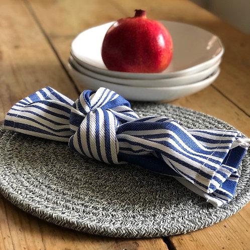 Cotton Napkin Blue Stripe