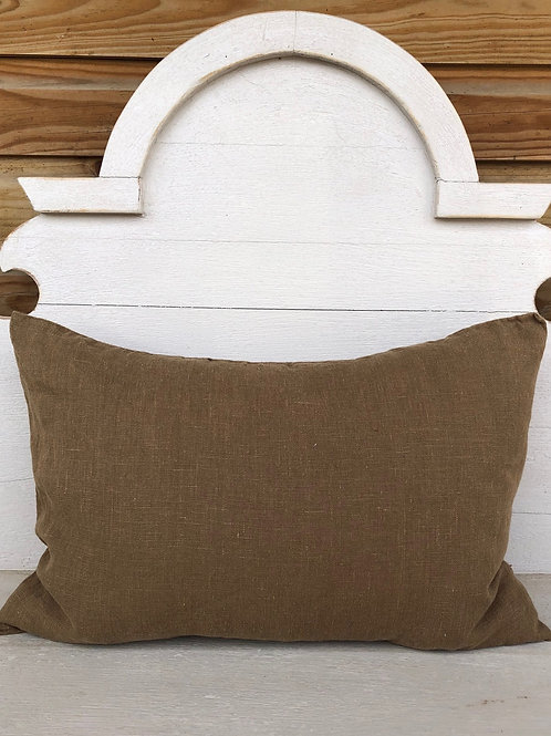 Rectangular Linen Cushion Earth