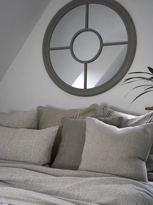 Linen Herringbone Blanket