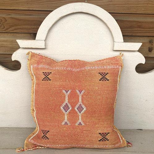 Cactus Silk Cushion Terracotta