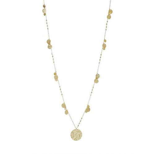 Boho Pendant Necklace Gold