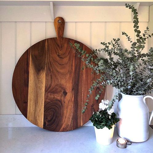 Round Hardwood Chopping Board