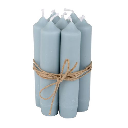Short Dinner Candle Pale Blue