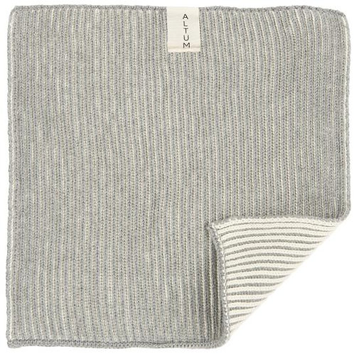 Knitted Cotton Dish Cloth Grey