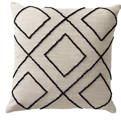 Embroidered Diamond Cushion