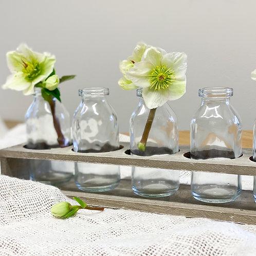Wooden Milk Bottle Tray