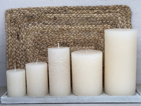 Rustic Candle White Asparagus