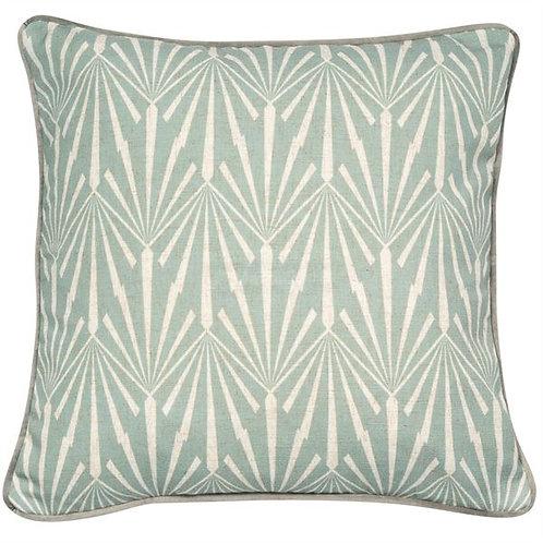 Art Deco Cushion Seafoam