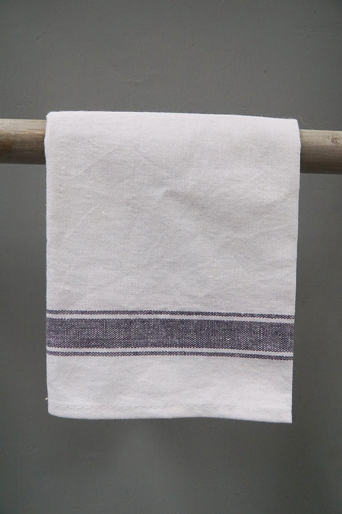 Cotton Napkin Grey Stripe