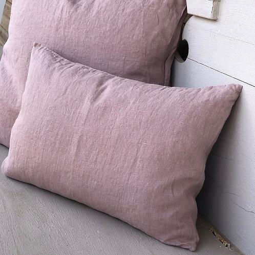 Linen Cushion Antique Rose