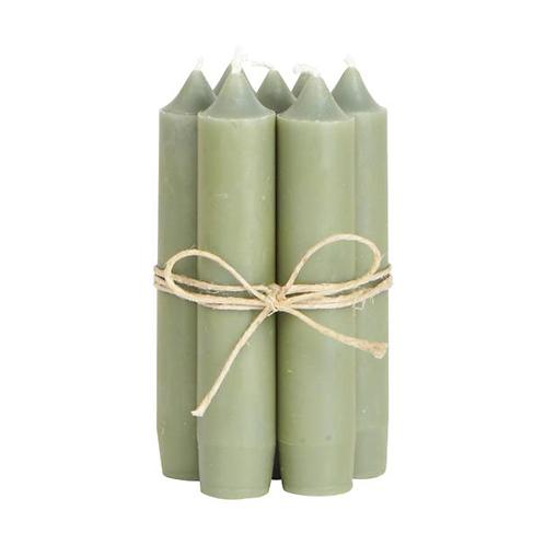 Short Dinner Candle Olive