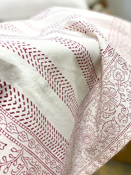 Floral Hand Block Tablecloth