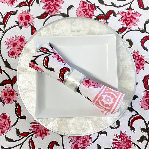 Pink Passion Flower Tablecloth