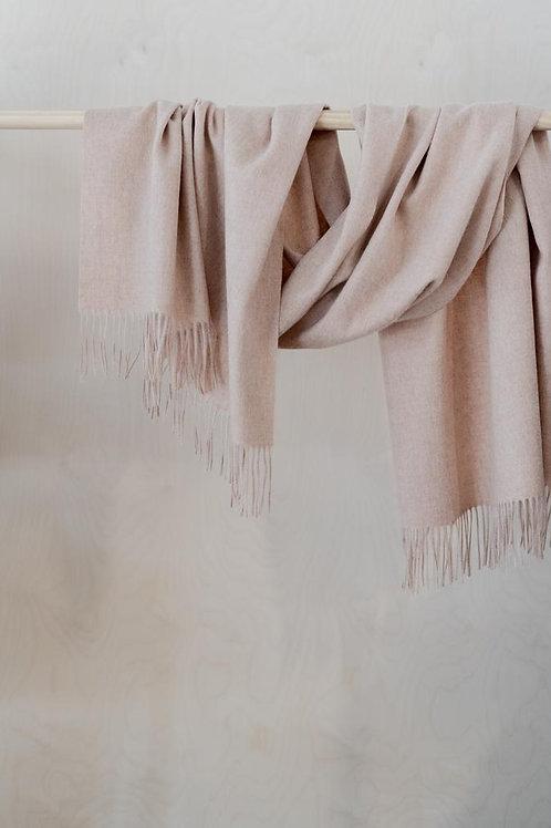 Lambswool Blanket Pale Pink Melange