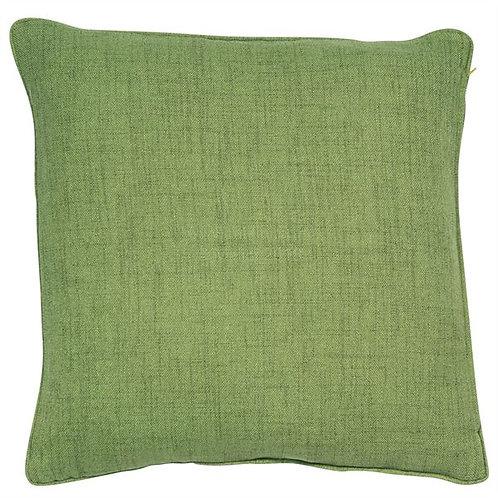 Linen Blend Cushion Green