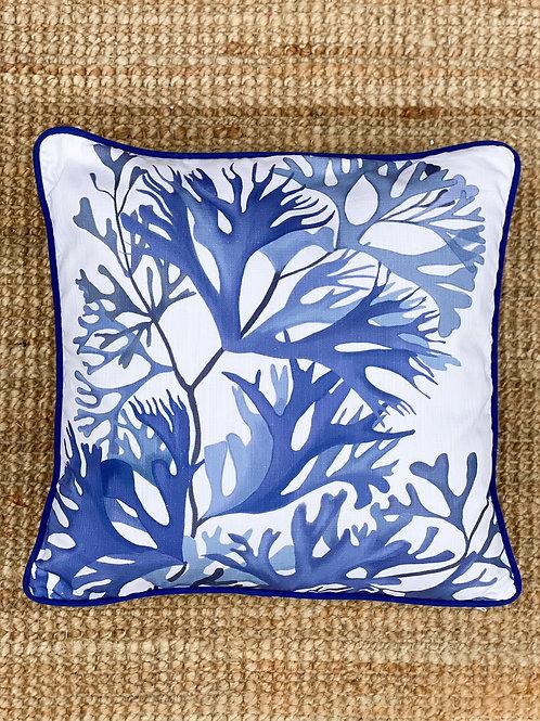 Indigo Seaweed Cushion III