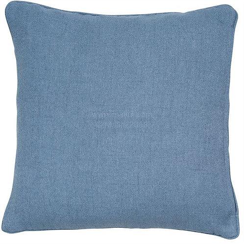 Linen Blend Cushion Blue