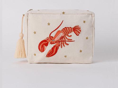 Elizabeth Scarlett Lobster Wash Bag