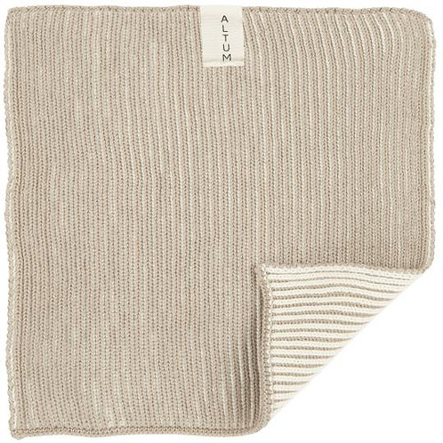 Knitted Cotton Dish Cloth Taupe